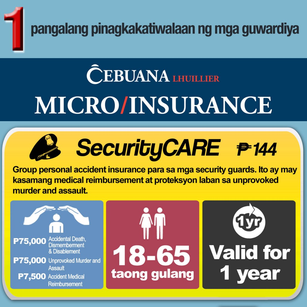 Cebuana Lhuillier Micro Insurance for Security Guards.