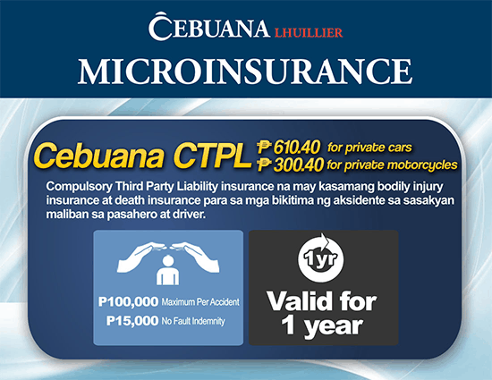 Compulsory Third Party Liability Insurance from Cebuana Lhuillier