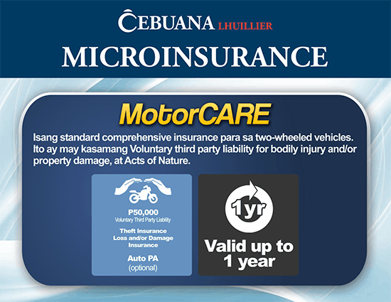 Motorcare Microinsurance from Cebuana Lhuillier